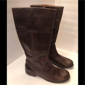 Fossil Leather Brown Boots Size 10